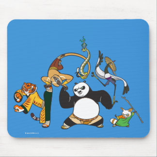 Po and the Furious Five Mouse Mat
