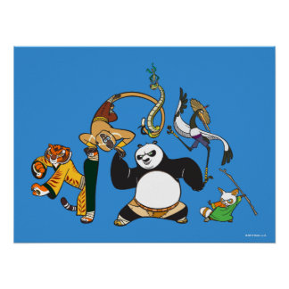 Po and the Furious Five Poster
