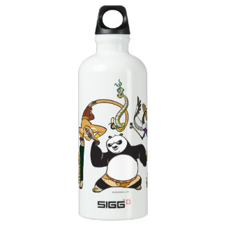 Po and the Furious Five Water Bottle
