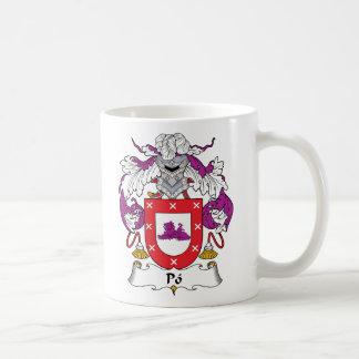 Po Family Crest Mugs