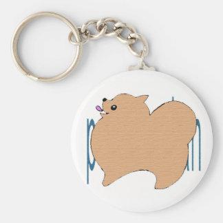 po me key holder basic round button key ring