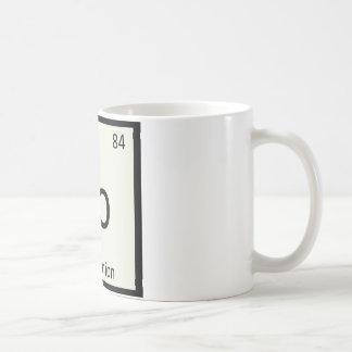Po - Pearl Onion Chemistry Periodic Table Symbol Coffee Mug