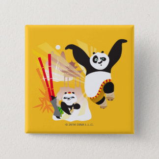 Po Ping and Bao 15 Cm Square Badge