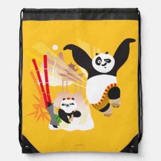 Po Ping and Bao Drawstring Bag