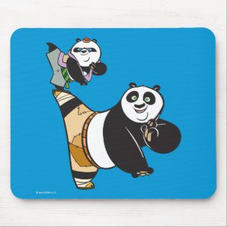 Po Ping and Bao Kicking Mouse Mat