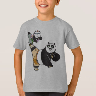 Po Ping and Bao Kicking T-Shirt