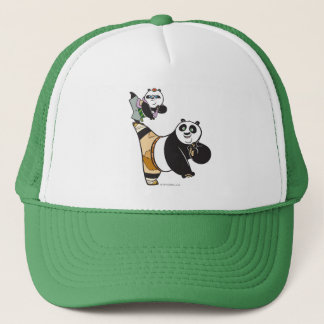 Po Ping and Bao Kicking Trucker Hat