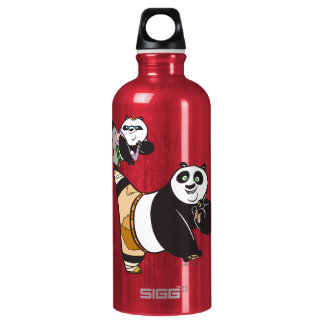 Po Ping and Bao Kicking Water Bottle