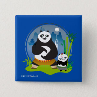 Po Ping and Bao Pose 15 Cm Square Badge