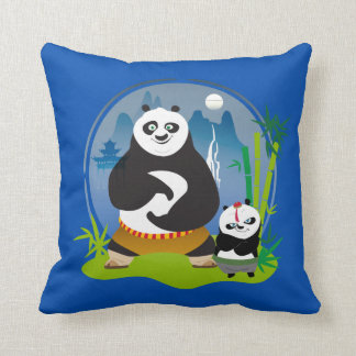 Po Ping and Bao Pose Cushion