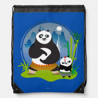 Po Ping and Bao Pose Drawstring Bag