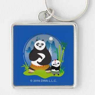 Po Ping and Bao Pose Key Ring