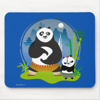 Po Ping and Bao Pose Mouse Mat