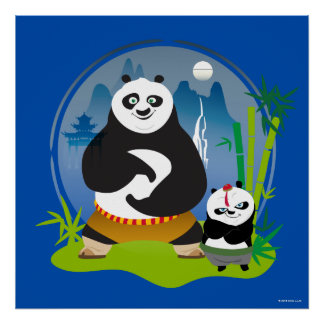 Po Ping and Bao Pose Poster