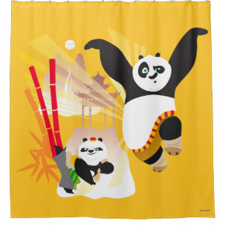 Po Ping and Bao Shower Curtain