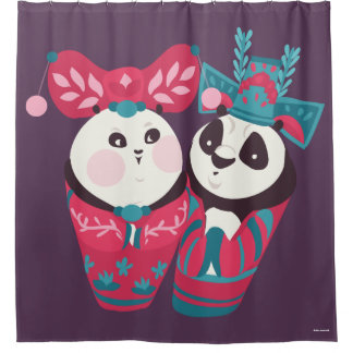 Po Ping and Mei Mei Shower Curtain