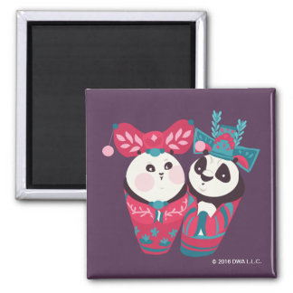 Po Ping and Mei Mei Square Magnet