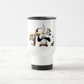 Po Ping and the Furious Five Stainless Steel Travel Mug