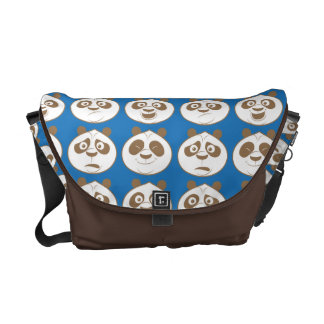 Po Ping Blue Pattern Courier Bag