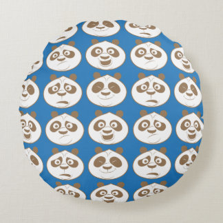 Po Ping Blue Pattern Round Cushion