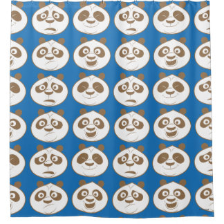 Po Ping Blue Pattern Shower Curtain