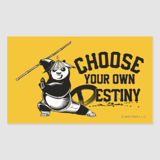 Po Ping - Choose Your Own Destiny Rectangular Sticker