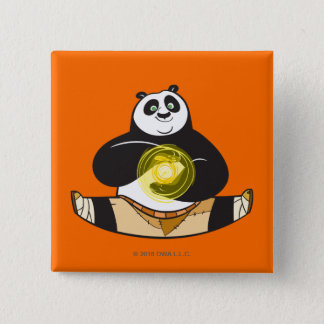 Po Ping Doing the Splits 15 Cm Square Badge