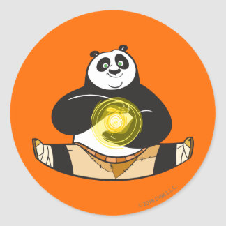 Po Ping Doing the Splits Classic Round Sticker