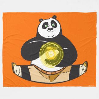 Po Ping Doing the Splits Fleece Blanket