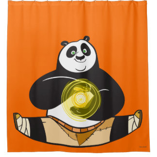 Po Ping Doing the Splits Shower Curtain