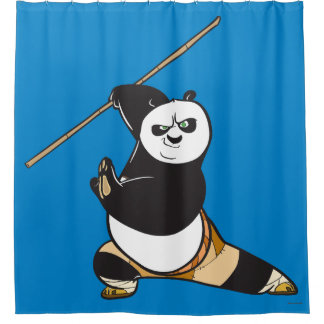 Po Ping Dragon Warrior Shower Curtain