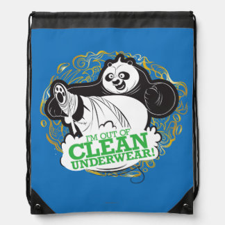 Po Ping - I'm Clean out of Underwear Drawstring Bag