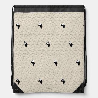Po Ping Silhouette Pattern Drawstring Bag