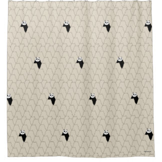Po Ping Silhouette Pattern Shower Curtain