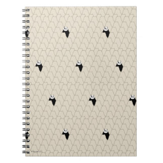 Po Ping Silhouette Pattern Spiral Notebook