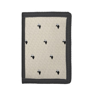 Po Ping Silhouette Pattern Trifold Wallets