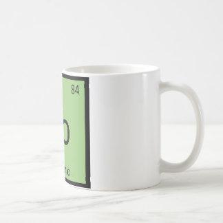 Po - Pistachio Nut Chemistry Periodic Table Symbol Coffee Mug