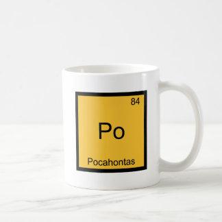 Po - Pocahontas Funny Chemistry Element Symbol Tee Basic White Mug