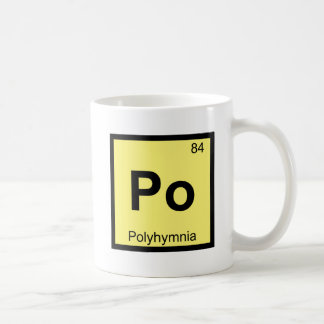 Po - Polyhymnia Muse Chemistry Periodic Table Mugs