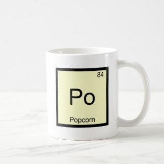 Po - Popcorn Funny Chemistry Element Symbol Tee Basic White Mug