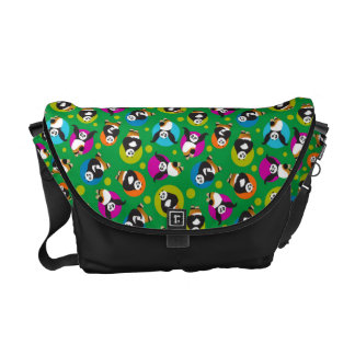Po Posing Pattern Courier Bag