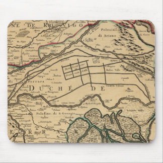Po River Valley engraved map Mouse Mat