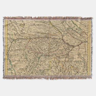 Po River Valley in Italy Throw Blanket