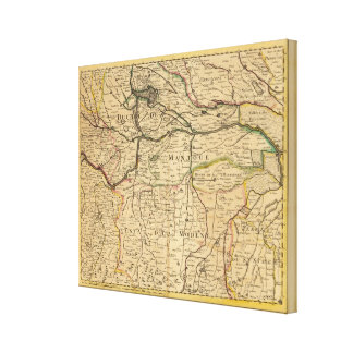 Po River Valley map Canvas Print