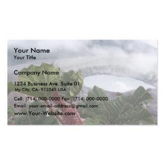Poas Volcano At Caldera And Poor Mans Umbrella Business Cards