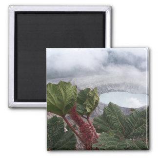 Poas Volcano At Caldera And Poor Mans Umbrella Square Magnet