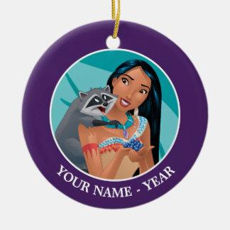 Pocahontas and Meeko Add Your Name Christmas Ornament