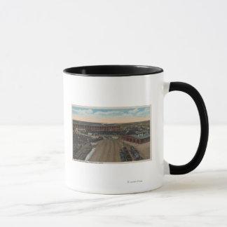 Pocatello, ID - Train Depot Round House & Mug