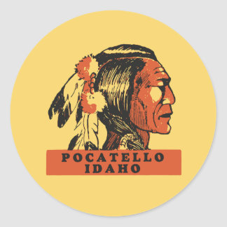 Pocatello Idaho Classic Round Sticker