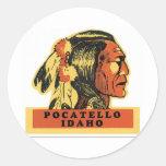 Pocatello, Idaho Round Stickers